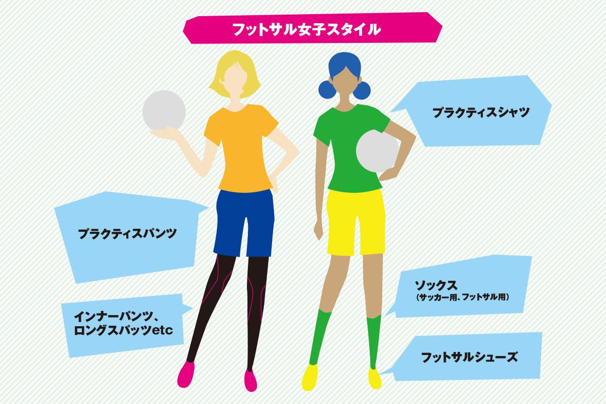 フットサル 女子 ファッション スタイル
